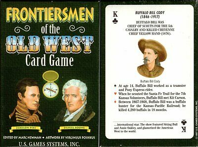 Frontiersmen of the Old West Playing Cards Game Bridge Size Deck USGS Custom New