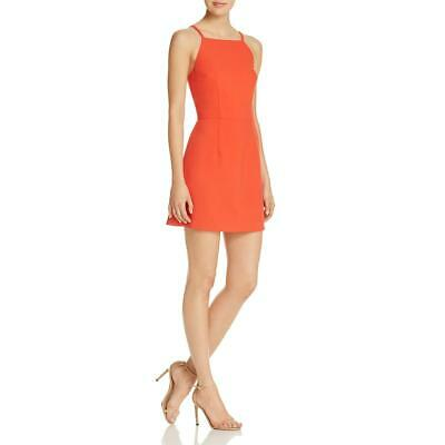 959f276b590 French Connection Womens Red Sleeveless A-Line Crepe Mini Dress 0 BHFO 1774