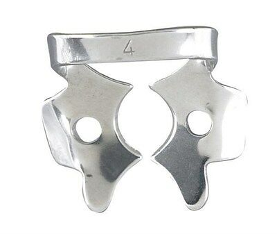 Rubber Dam Clamps #4 Tempered Stainless Steel Sold in Pack of 2