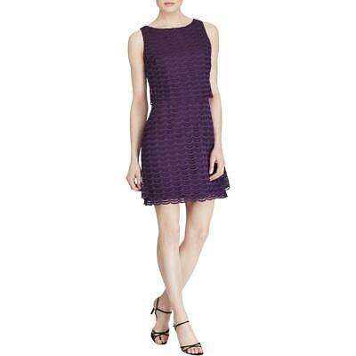 American Living Womens Purple Lace Sleeveless Wear to Work Dress 8 BHFO 5554