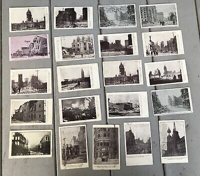 Lot 21 Antique RPPC Photo Postcards May 1906 Postmarked San Francisco Earthquake