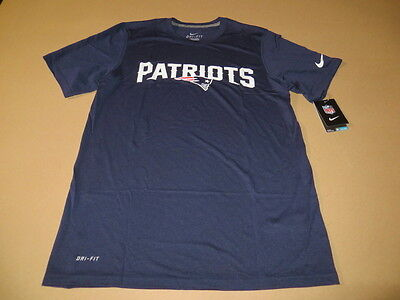 4a6453bf New England Patriots Lockup Men's Dri Fit T-Shirt Navy Blue by Nike New  SMALL
