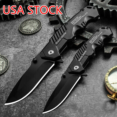 57HRC Folding Knife Tactical Survival Knives Hunting Camping Blade Hardness