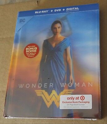 New Wonder Woman Blu-ray/DVD Lenticular Digibook Target Exclusive USA *Dent*