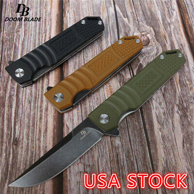 "7.9"" Outdoor Multi-functional Portable Folding Knife Quick Open Mirror Camping"