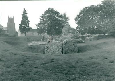 Village in North Elmham. - Vintage photo