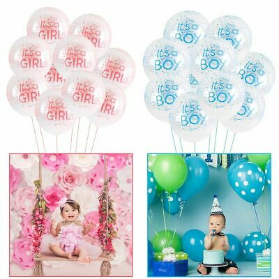 10Pcs It's a Boy Or It's a Girl Latex Balloons for Baby Shower Party Decoration