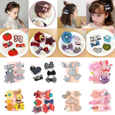 Lovely 5 PCS Kids Baby Girls Bow Hair Pin Hair Clip Mini Bowknot Clips Hairpins