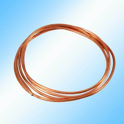 2m Soft Microbore Copper Tube Pipe (OD 4mm x ID 3mm) For Refrigeration Plumbing