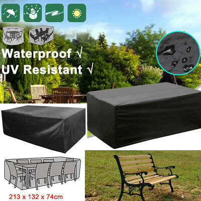 Extra Large Garden Rattan Outdoor Furniture Cover Patio Table Protection Black G