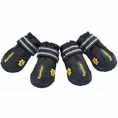 4pcs Dog Boots Feet Cover Paw Protectors Non Slip Shoes Strap Waterproof Sole