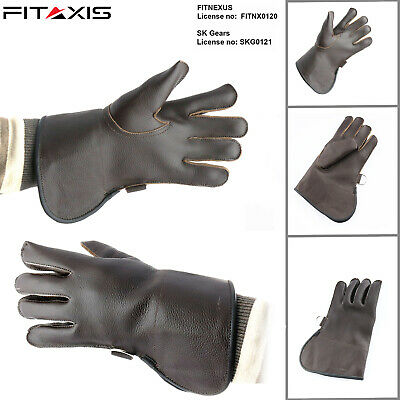 FITAXIS Children Falconry Glove Nubuck Leather Hunting Eagle Single Layer Glove