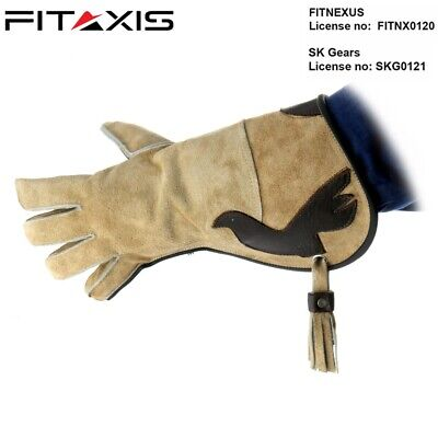 FITAXIS Falconry Suede Double skinned fleece Birds Hawk Gloves for cold Days New