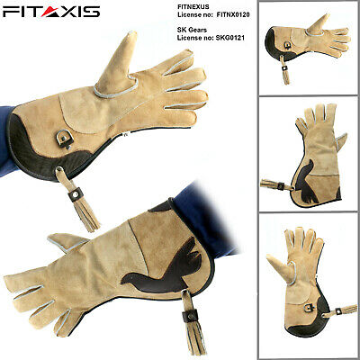 FITAXIS Falconry Hunting Suede Double skinned fleece Gloves for cold Days New...
