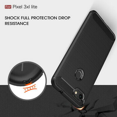 Luxury Brushed Carbon Fiber Silicone protective Case Cover For Google 3 XL Lite