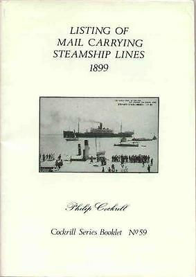 1899 Listing of MAIL CARRYING STEAMSHIP LINES Worldwide Maritime Ship Letters