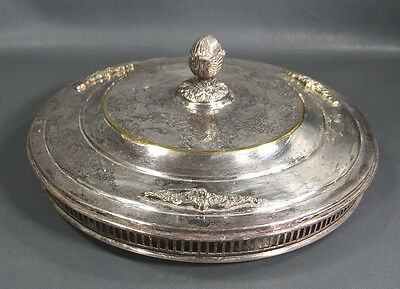 19c.French Empire Brass&Silver Serving Platter Tray Dish Bowl Candy Cake Biscuit