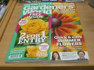 BBC Gardeners' World magazine MAY 2019 Fast Flowers+ 2 for 1 Entry Card & Guide