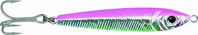 "GOT-CHA JF1-PC Jigfish Lure, 2 1/2"" 1 oz, #6 Treble Hook, Pink/Chrome"