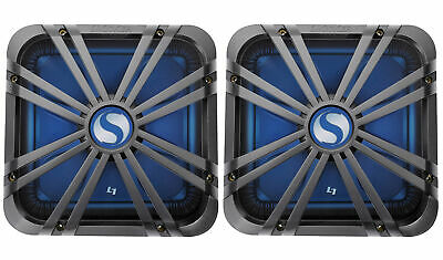 "2) Kicker 11L712GLC 12"" Charcoal Grilles w/LEDs For SoloBaric 11S12L7 Subwoofers"