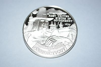 1973 Franklin Mint Sterling Silver 50 State Bicentennial Medal -Connecticut
