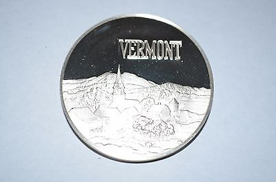 1973 Franklin Mint Sterling Silver 50 State Bicentennial Medal -Vermont