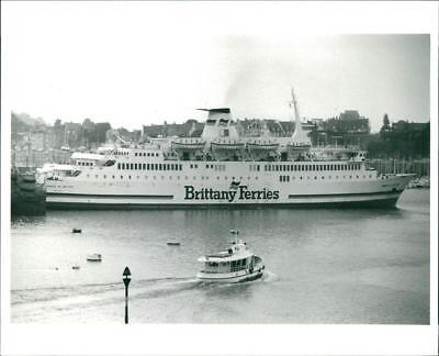 France,Brittany: The car ferry Prince of Britanny. - Vintage photo