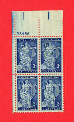 SCOTT # 1082 Labor Day Issue United States U.S. Stamps MNH - Plate Block of 4