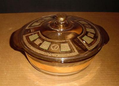Vintage Mid-Century Fire-King Georges Briard Covered Casserole Dish Chafing Dish