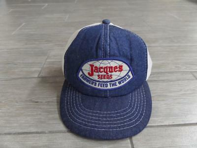 b5f8401c VINTAGE JACQUES SEEDS Snapback Trucker Hat Cap Patch Made In USA ...