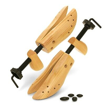 Plixio Pair of Adjustable Wooden Shoe Stretcher 2 Way Expander US Mens Size 9-12