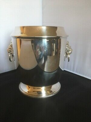 vintage silver plated ice bucket, Wine cooler, silver, England