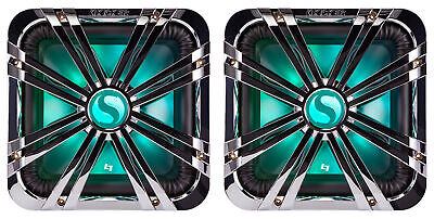 "(2) Kicker 11L710GLCR 10"" Chrome LED Grilles 4 SoloBaric 11S10L7 Subwoofers Subs"