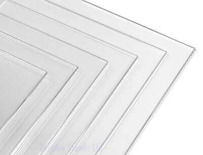 CLEARANCE 6 x 5mm Thick Clear Acrylic Perspex Panel Sheet Shelf Plate (CLR030)