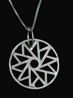 COOL Celtic HEALING CIRCLE OF LIFE Sterling Silver 925 Spiral charm Jewelry