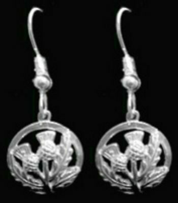 68a697928 COOL New Celtic Thistle shamrock Sterling Silver 925 Earrings Jewelry New