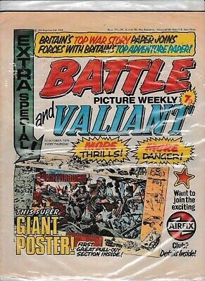 BATTLE AND VALIANT PICTURE WEEKLY 23rd OCTOBER 1976 IN GOOD CONDITION 1st issue