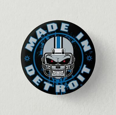 Chapa Pin Badge Button MADE IN DETROIT AMERICAN FOOTBALL