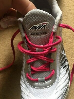 Avia Silver And Pink Girls Trainers Size 4 Ex Condition