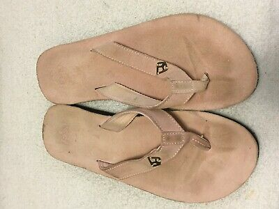 b9d47d3071d Women s Reef soft pink Suede Leather Thong Sandals SZ ...