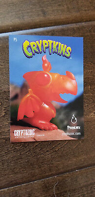 2018 Sdcc Comic Con Exclusive Cryptozoic Cryptkins Phoenix Promo Card # P5