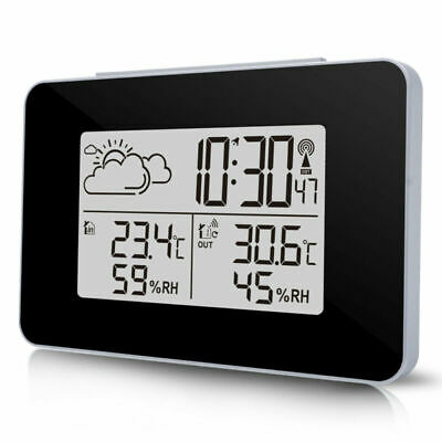 Hot Digital LCD Wireless Weather Station Sensor Thermometer Home Outdoor Indoor