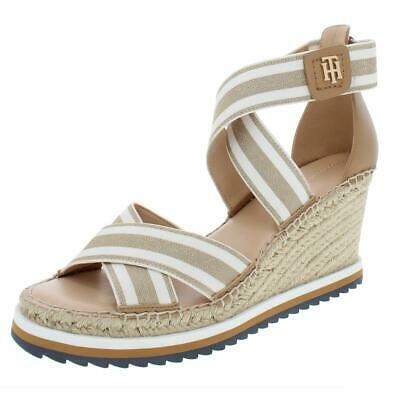 20946c107 Tommy Hilfiger Womens Yesia Stretch Espadrille Wedge Sandals Shoes BHFO 7242