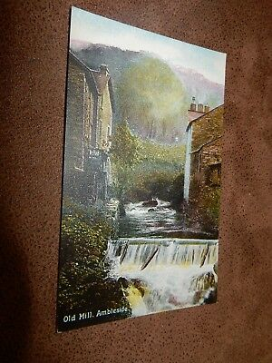 Early postcard - Old Mill Ambleside - Cumbria / Lake District