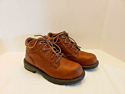 168ced033d0 WOMENS 7 ARIAT Macey Composite Toe Work Hiking Ankle Boots Lace Up Brown  Leather