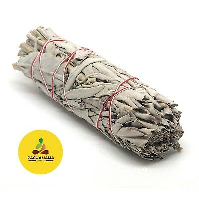"White Sage Smudge Stick/Wand 4""-5"" House Cleansing Remove Negativity Ceremonial"