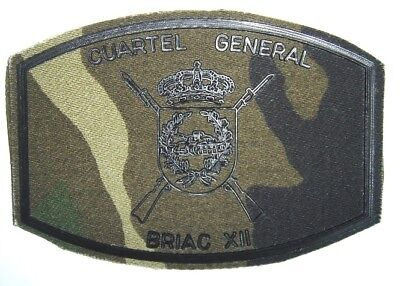 parche ET BRIAC XII CUARTEL GENERAL , spain army patch