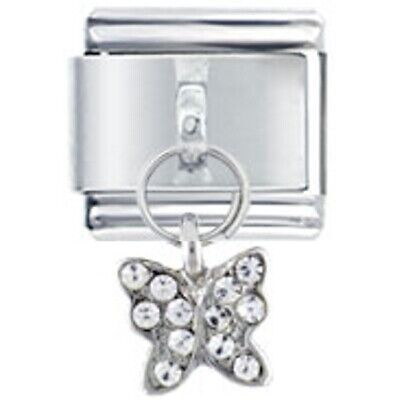 Daisy Charm - Crystal Gem Butterfly Italian Charm fits Nomination Classic size