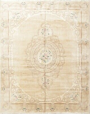 Muted Distressed Vintage Floral Art Deco Peking Chinese Oriental Area Rug 8'x10'