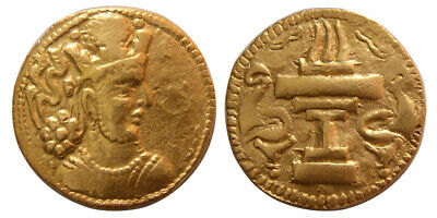 PCW-S1607-SASANIAN KINGS. Shapur II. AD. 309-379. Gold. Sind mint. Very Rare.